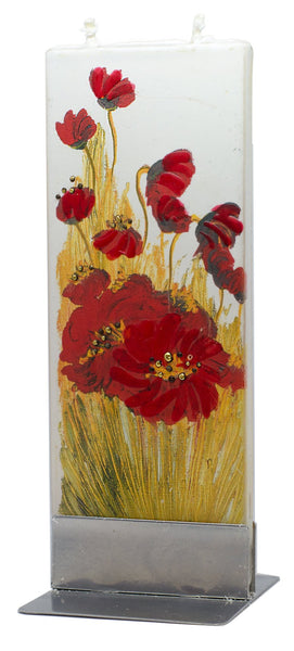 Poppy Blossom Flat Candle