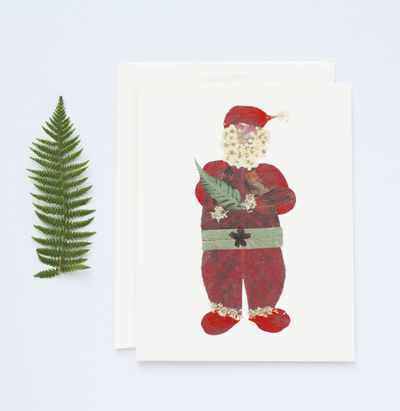 Santa -  Note Cards - Petal People Press