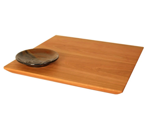 Square Bread Board and Dipping Bowl