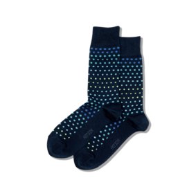 Socks: Mens - Blue with Dots