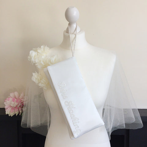 bridal clutch mrs wedding accessories