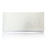 Ivory bridal wedding clutch