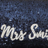navy sequin wedding bridal clutch handbag