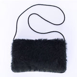 Anna black hand-warmer handbag