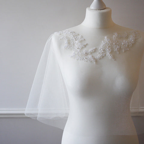 lace bridal cape for wedding