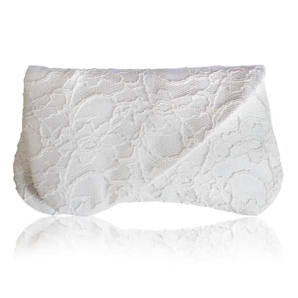 wedding clutch in ivory lace