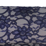 Navy and grey lace evening bag clutch