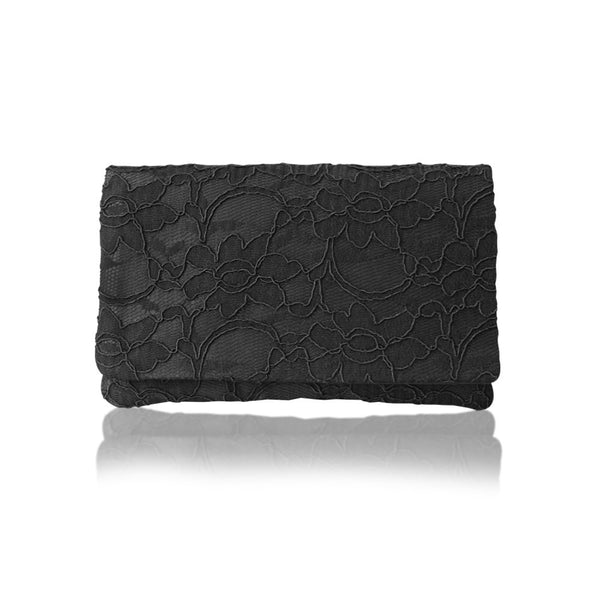Black lace small clutch purse