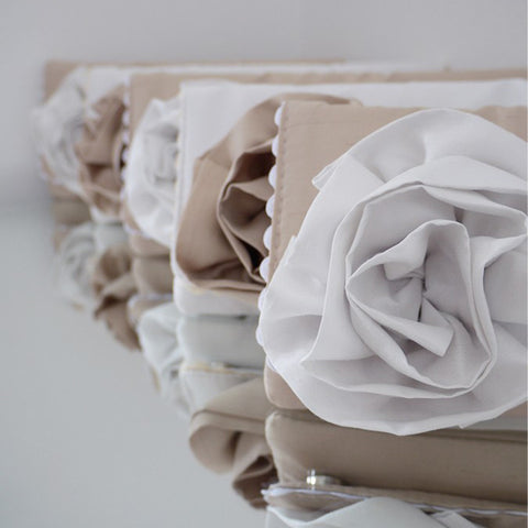 Bridesmaid clutches champagne ivory