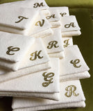 Bridesmaids gifts - set of ivory sequin personalised initial clutches