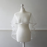 ivory wedding cape
