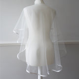tulle cape-let bridal cover up