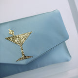 Cocktail glitter clutch - choose your colours