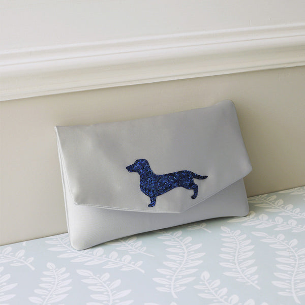 Dachshund glitter clutch - choose your colours