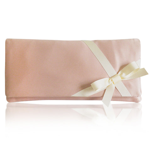 Blush pink bridal wedding clutch