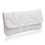 ivory wedding clutch