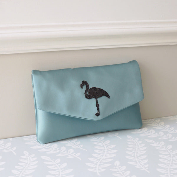 Flamingo glitter clutch - choose your colours