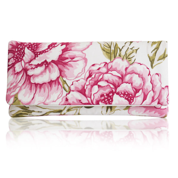 Floral print wedding clutch