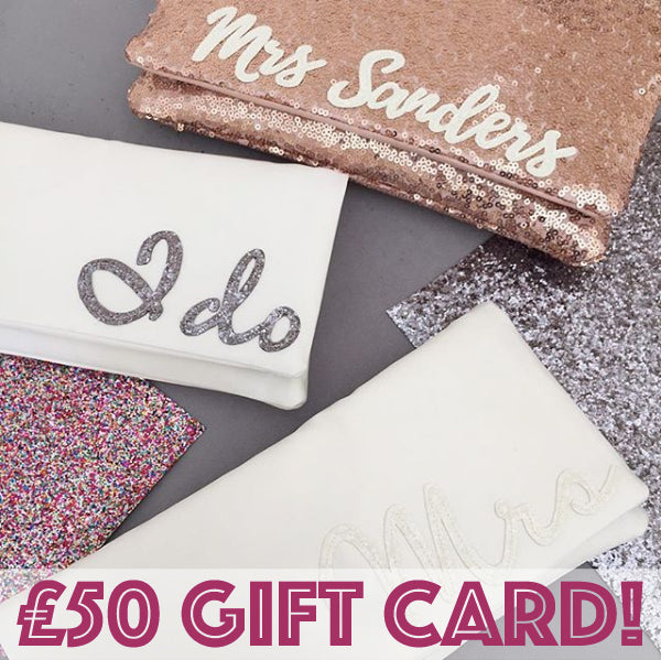 gift voucher, bridal clutch, wedding clutch, gift card,