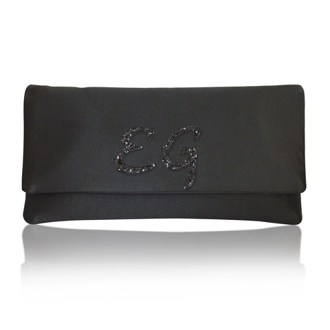 monogram clutch personalised handbag