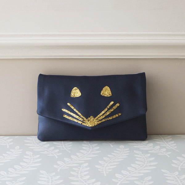 mouse satin clutch