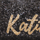 personalised name clutch handbag