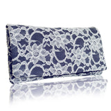 Navy lace evening bag