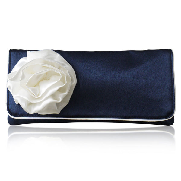 navy mother of the bride clutch handbag