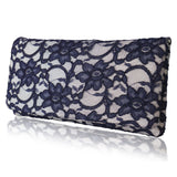 Ivory and navy mother of the bride clutch