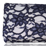 Ivory and navy bridal wedding clutch