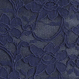 Navy lace large evening bag