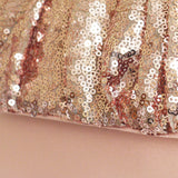 Blush pink sequin clutch handbag POLLY