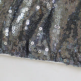 Ivory and grey sequin clutch handbag POLLY