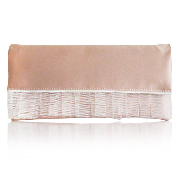 Blush pink wedding clutch