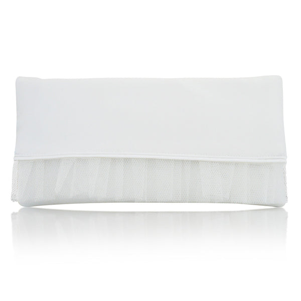 bridal clutch in ivory satin