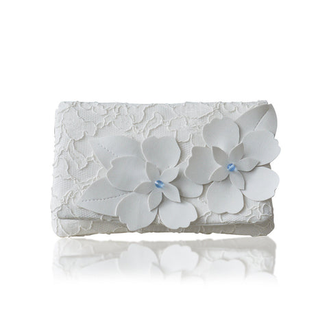 something blue wedding clutch