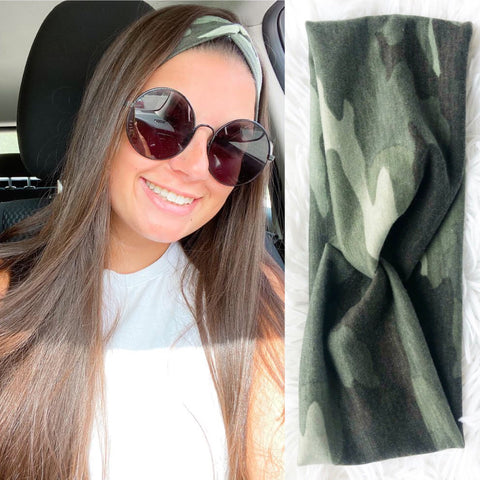 Knotted Headband- CAMO LIMITED EDITION