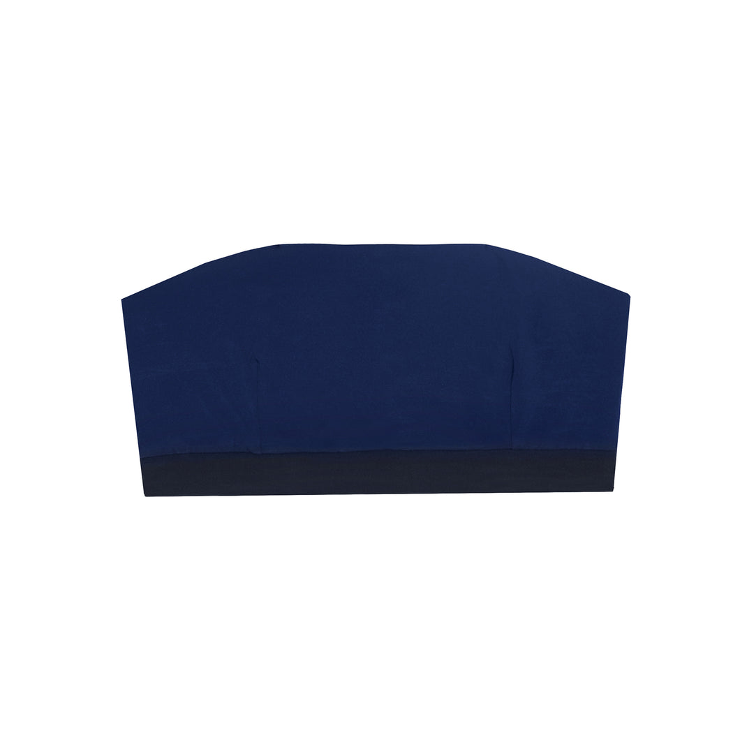"BANDEAUTOP WITH BLACK ""black-navy"""