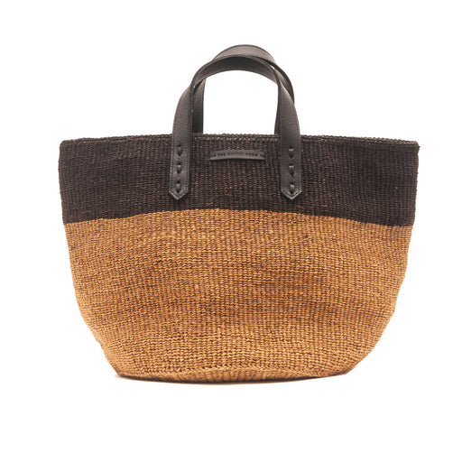 "WOVEN SISAL BASKET ""black-nature"""