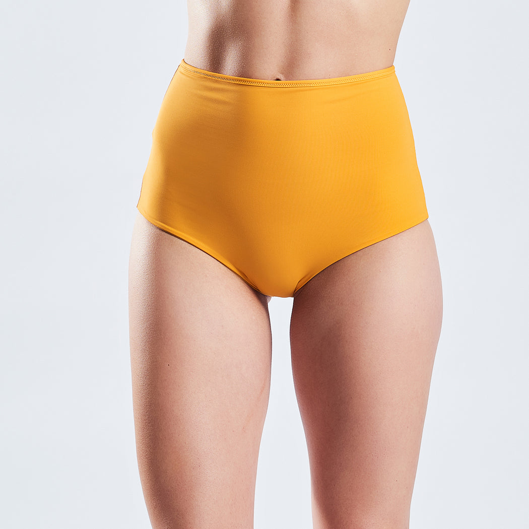 "HIGHWAIST SHORTS ""gold-amber"""