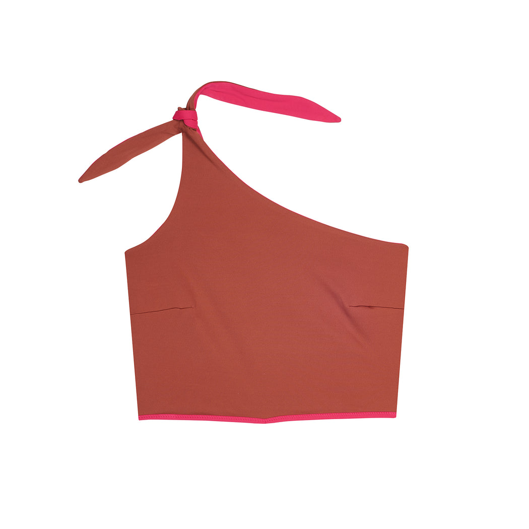"HOLIDAY ONESHOULDER TOP ""raspberry-earth"""
