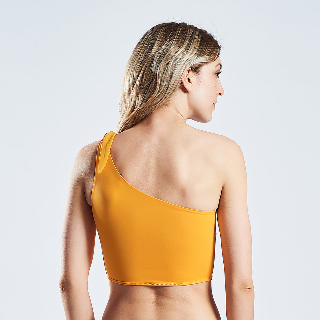 "HOLIDAY ONESHOULDER TOP ""gold-amber"""