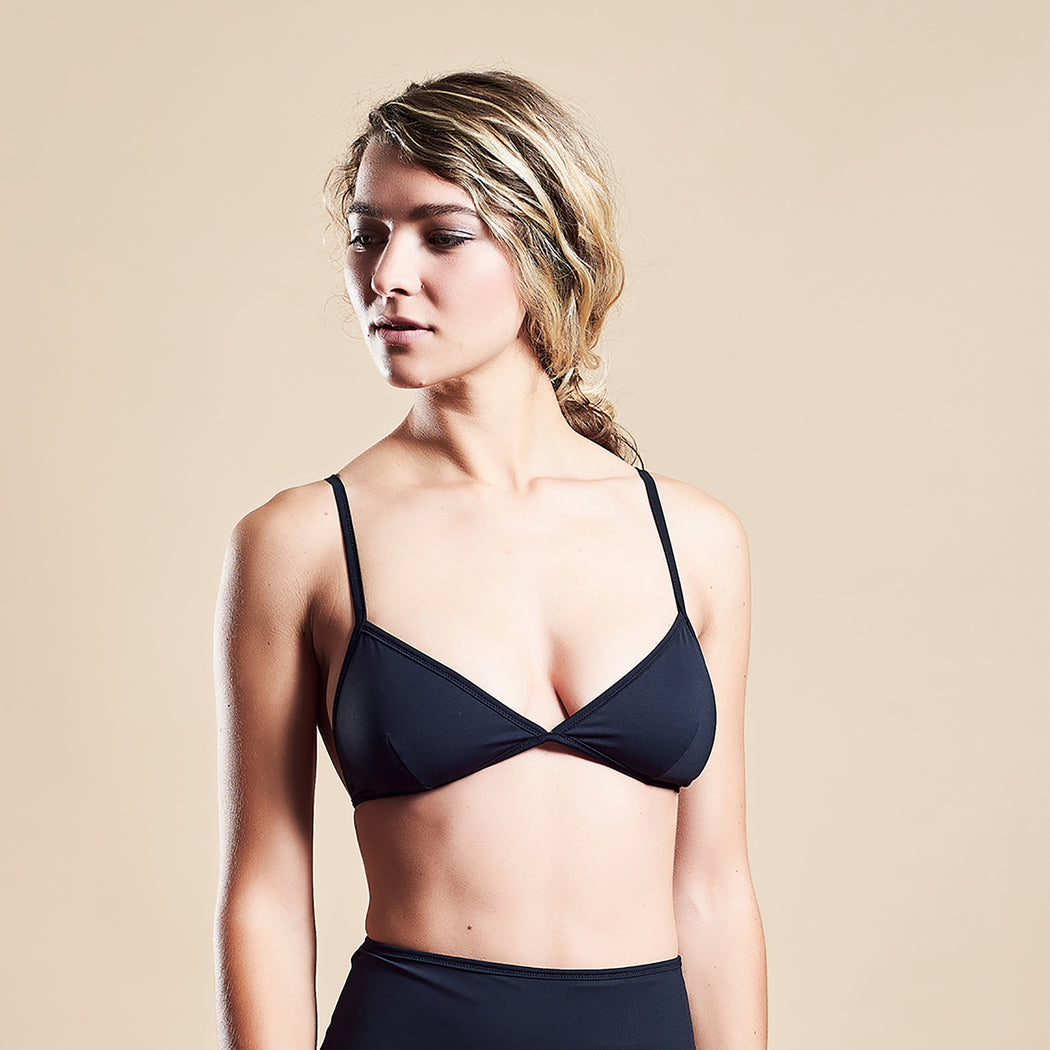"TRIANGLE BRA ""black-navy"""