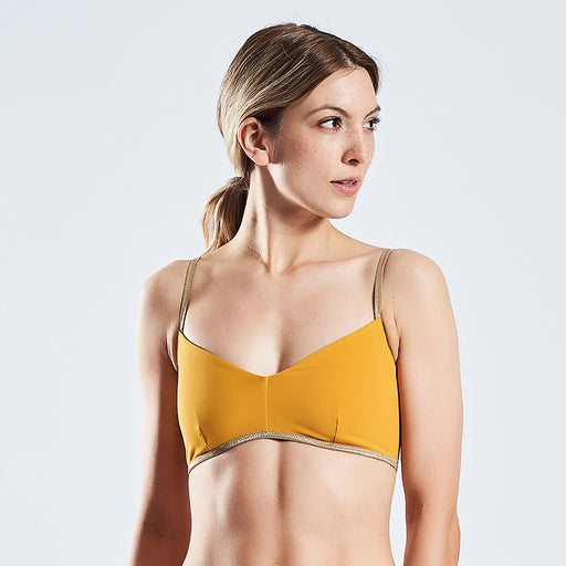 "SUNNY BRA SHINE ""gold-clay"""
