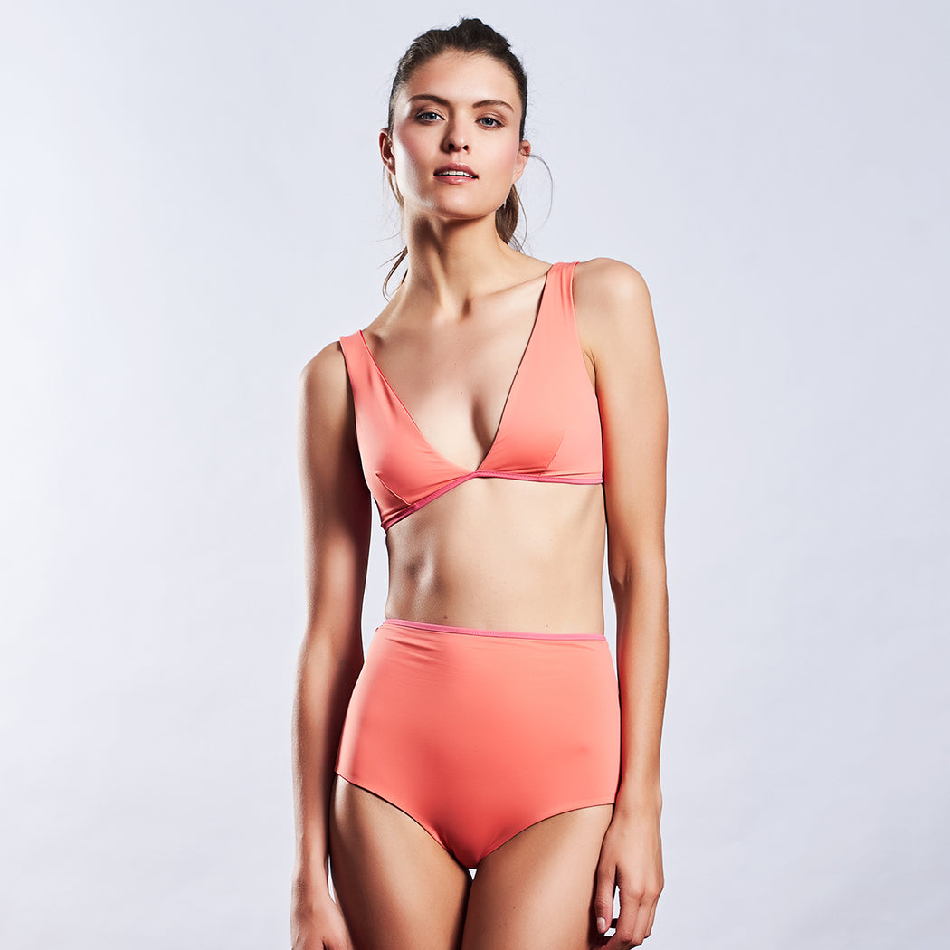 "POOL BRA ""lipstick-candy-peach"""