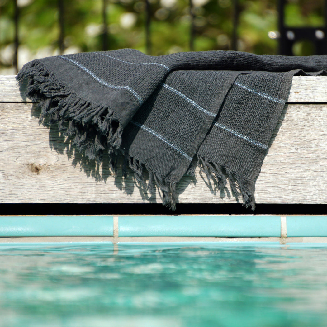 "Beach Towel ""darkgrey"""