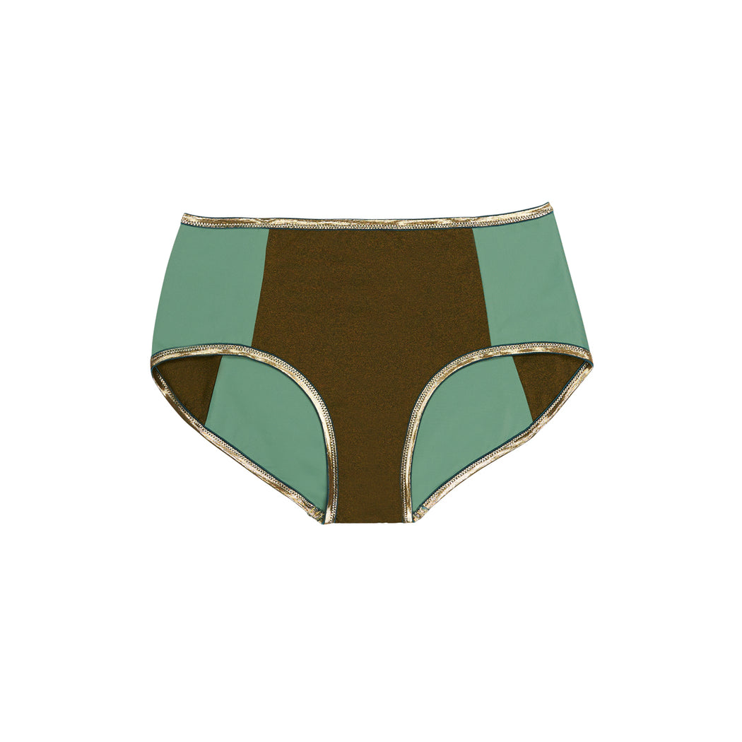 "BLOCSHORTS SHINE ""bronze-sage"""
