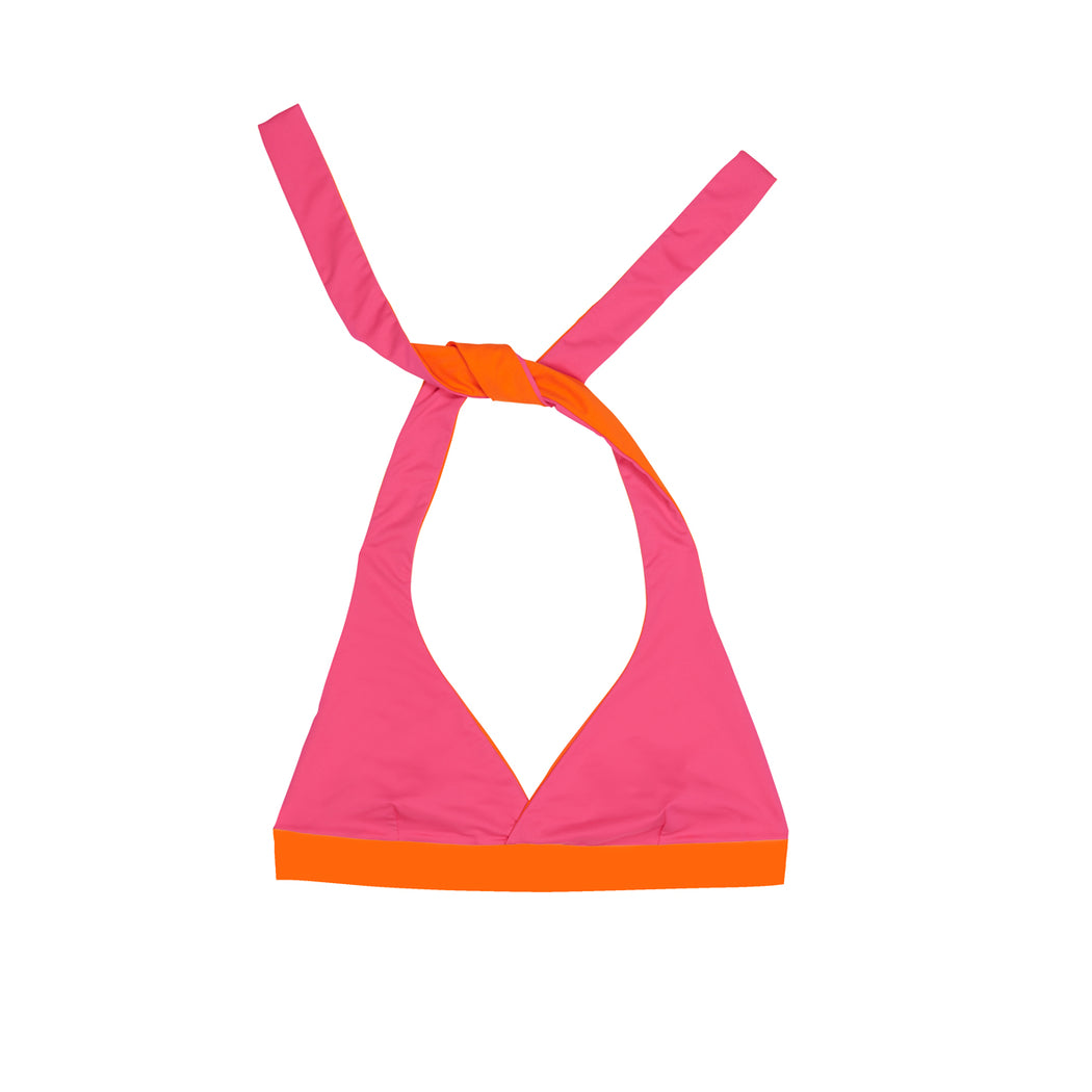 "NECKHOLDER TOP ECO FLASH ""tangerine-pink"""