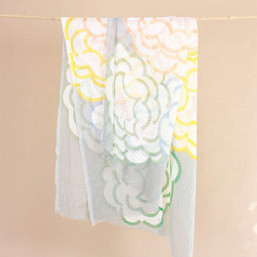 "SUMMER SCARF ""dusty yellow"""
