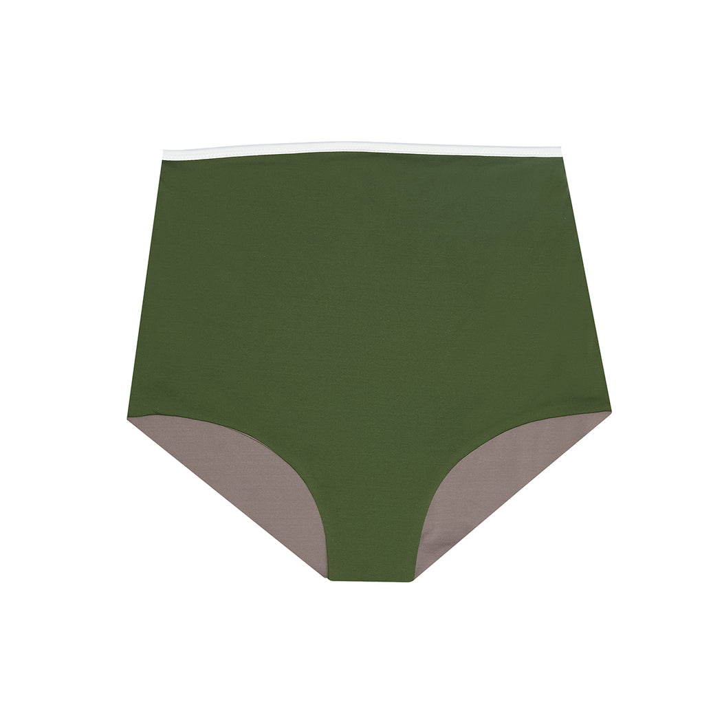 "HIGHWAIST SHORTS ""olive-sand"""